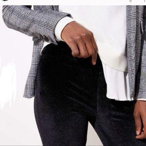LOFT Black Velvet Wide Leg Loose Comfortable Pants